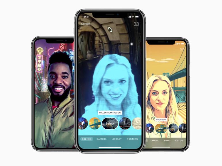 Die Selfie Szenen lassen sich nur mit dem iPhone X verwenden