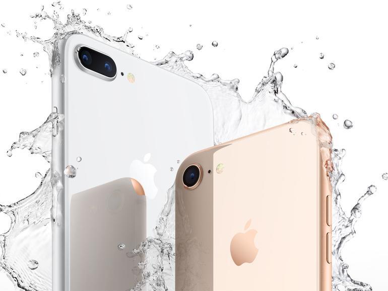Das iPhone 8 und Plus-Modell sind wasserdicht