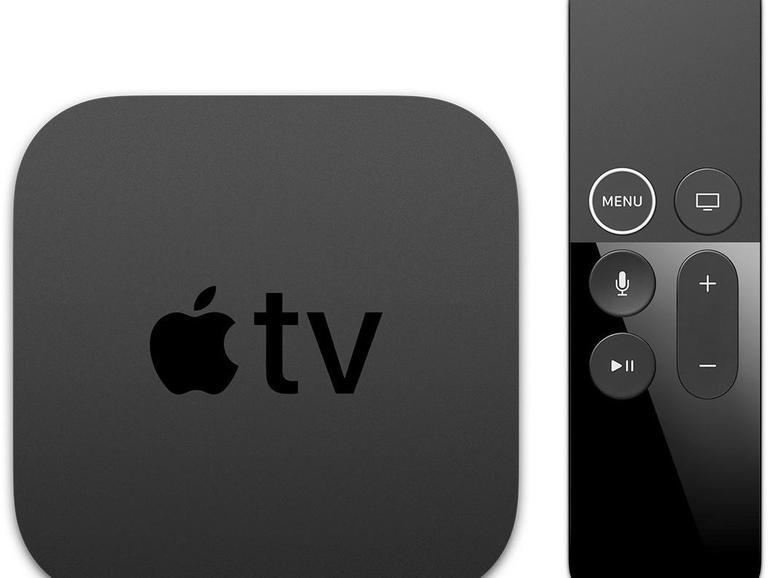 Das neue Apple TV 4K mit überarbeiteter Fernbedienung. Ein weißer Ring um die Menü-Taste der Siri-Remote soll für mehr Orientierung sorgen.