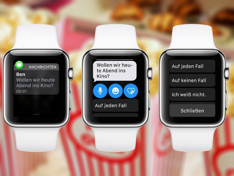 Apple Watch: So legen Sie schnelle Antworten auf Nachrichten fest