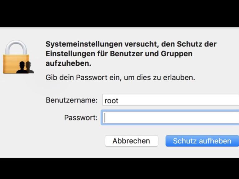 Root-Lücke: Apple veröffentlicht Sicherheitsupdate für macOS High Sierra