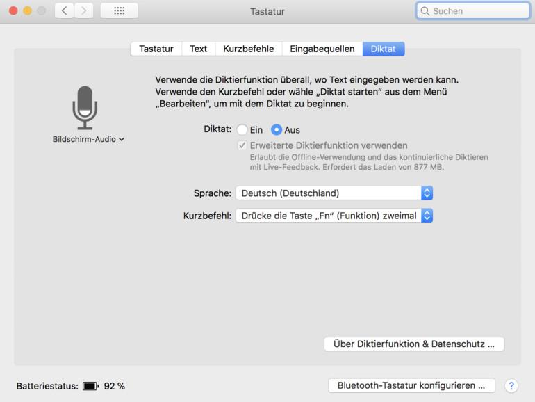 Die Aktivierung der Diktierfunktion am Mac geht leicht von der Hand