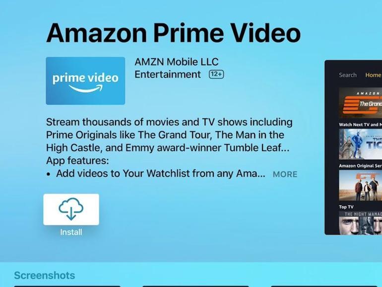 Endlich hat es Amazon Prime Video auch auf tvOS geschafft
