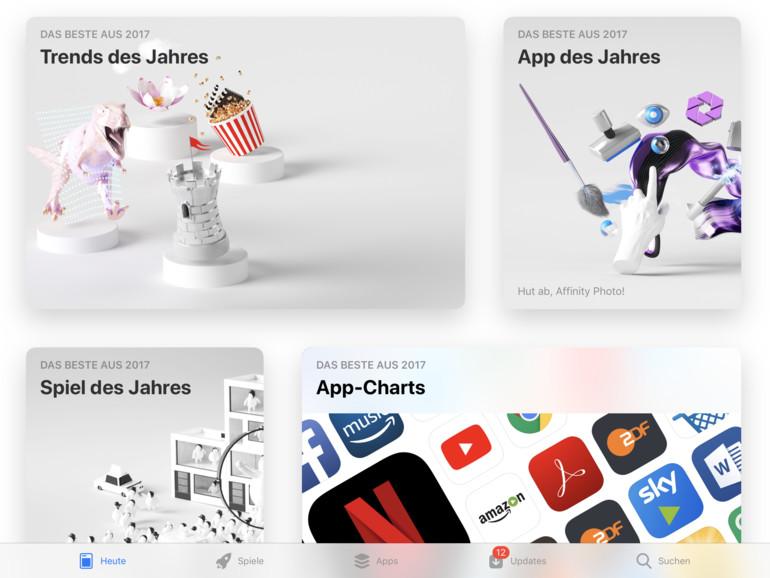 Auch im App Store für das iPad werden die Apps des Jahres vorgestellt