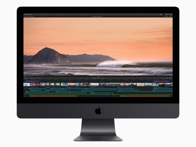 Videoschnitt von 4K- und 8K-Material funktioniert mit dem iMac Pro in Windeseile