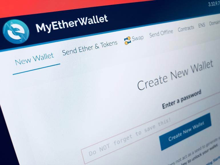 Foto der Webseite MyEtherWallet