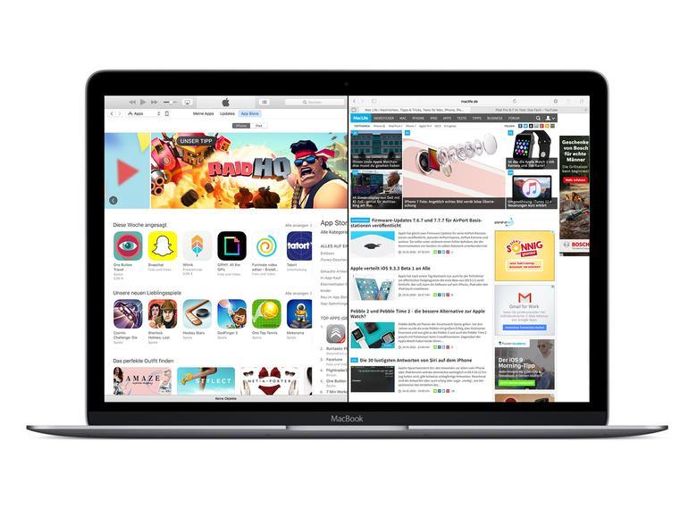 Split View am Mac: So nutzen Sie zwei Apps im Vollbildmodus