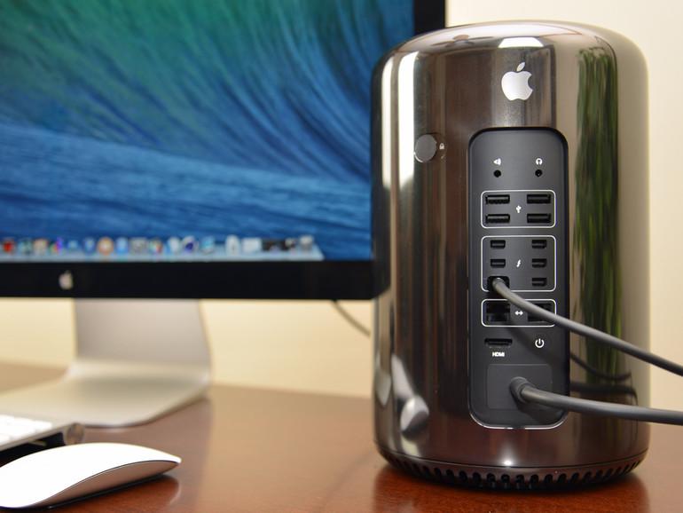Der aktuelle Mac Pro im Mülleimer-Design