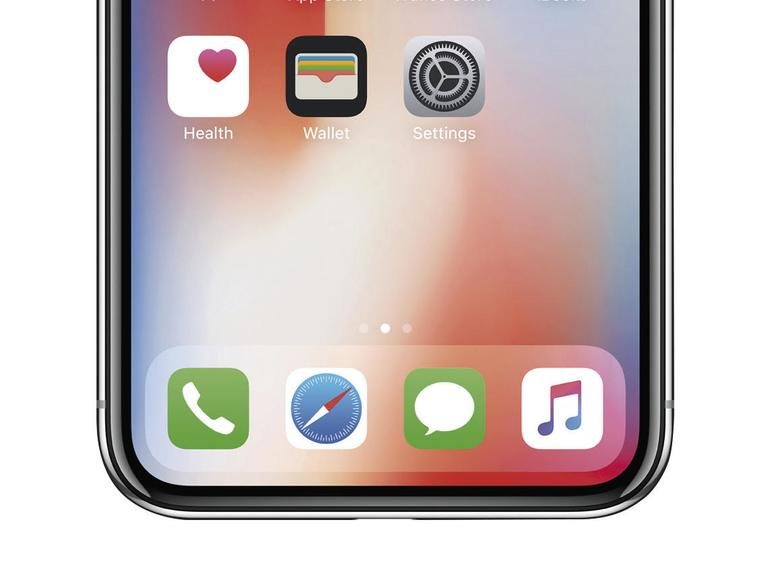 Keine Home-Taste, kein Touch ID. Laut Apple sinkt mit Face ID die Wahrscheinlichkeit einer fälschlichen Entsperrung von 1:50.000 auf 1:1.000.000.