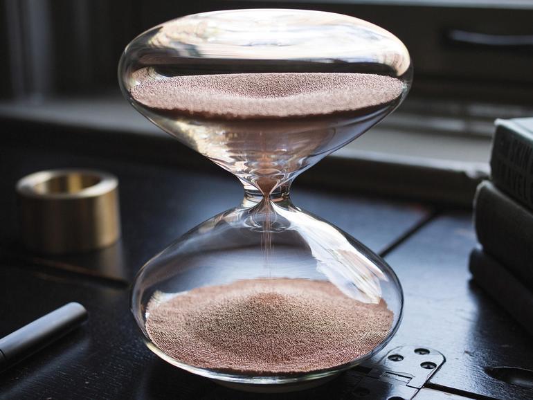 Marc Newson hat diese Sanduhr mit entworfen
