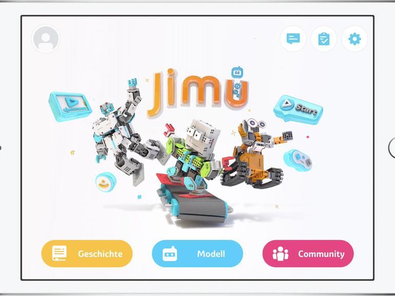 Eine App steuert alle Baukästen aus der Jimu-Robot-Serie.