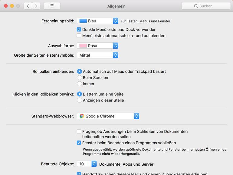 Dunklen Modus in macOS einrichten