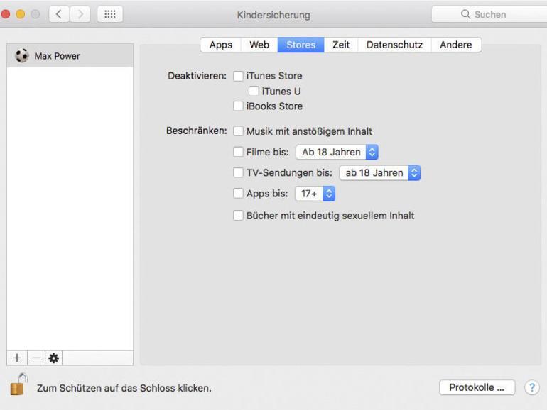 Benutzer verwalten: Mac mit Freunden und Familie teilen