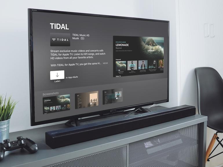 Musikstreaming-Dienst Tidal nun auch für Apple TV verfügbar