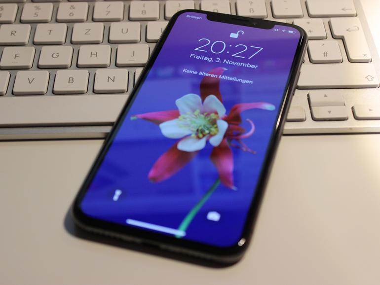 iPhone X mit TrueDepth Kamera