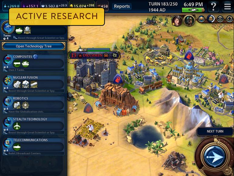 Screenshot aus Sid Meier's Civilization VI für iPad