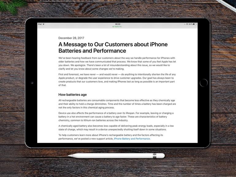 Der Brief richtet sich an alle betroffenen Nutzer eines iPhone 6, 6s oder SE