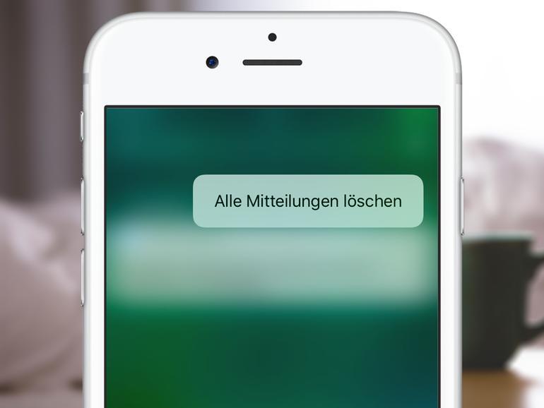 So löschen Sie sämtliche Mitteilungen am iPhone mit 3D Touch