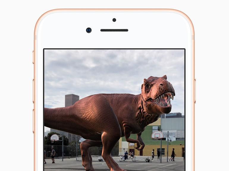 Eine ARKit-Anwendung auf dem iPhone 8