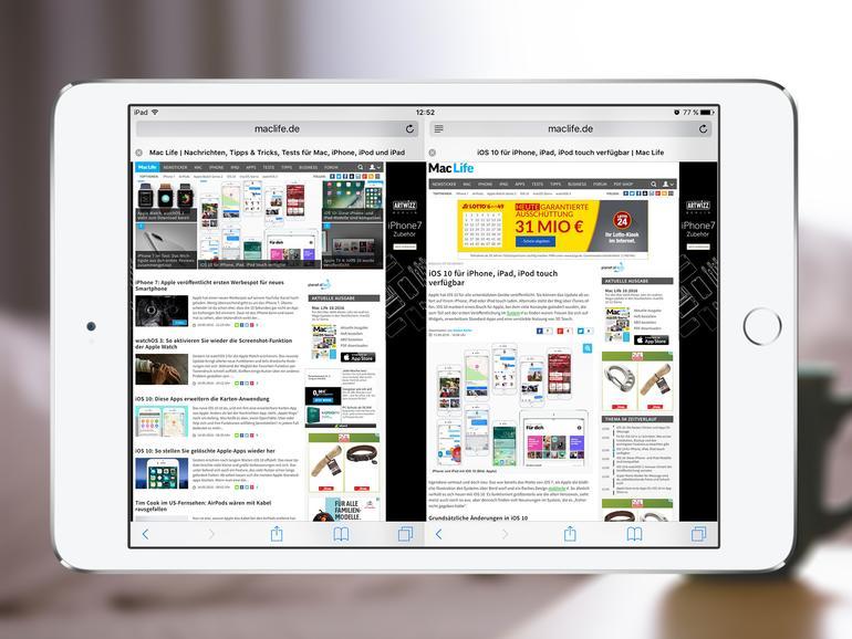 Split View: So öffnen Sie zwei Webseiten in Safari am iPad nebeneinander