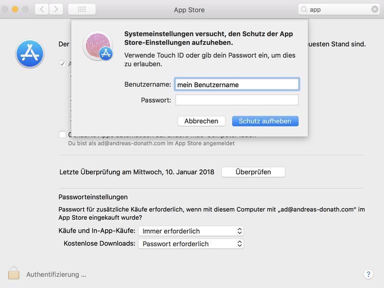 MacOS High Sierra mit neuer Sicherheitslücke: Das Passwort ist egal
