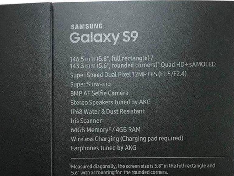 Angeblich die Verpackung des Samsung Galaxy S9