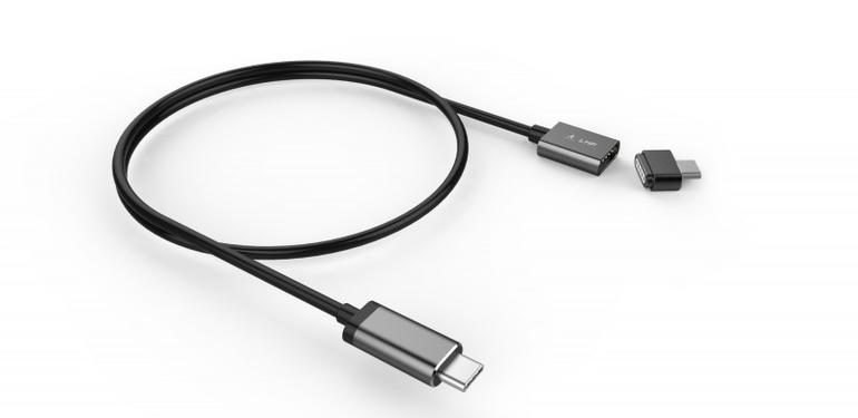 "USB-C Magnetic Safety Cable in ""Space Grey"""