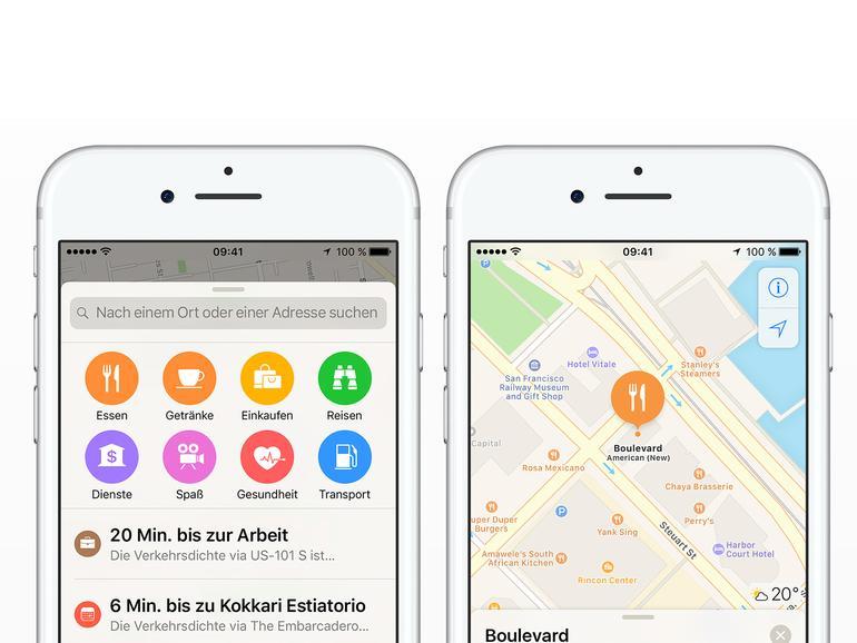So aktivieren Sie App-Erweiterungen für Karten am iPhone