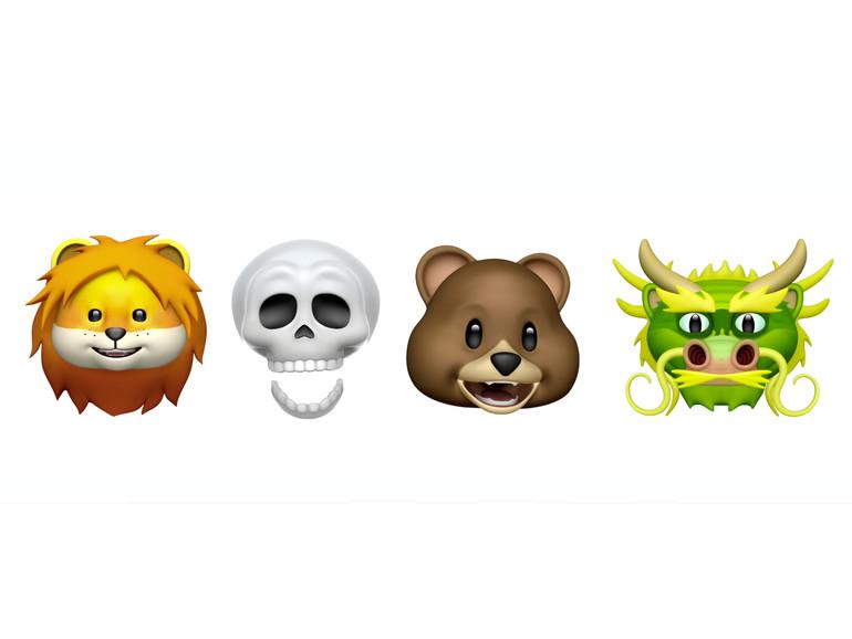 Mit iOS 11.3 stehen vier neue Animojis zur Auswahl