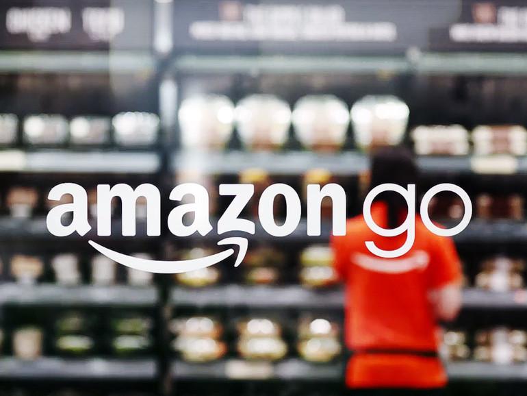 Amazon GO Eingang zum Supermarkt