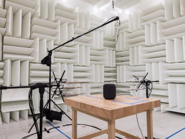 In diesem Labor testet Apple Audio-Produkte wie den HomePod oder die AirPods