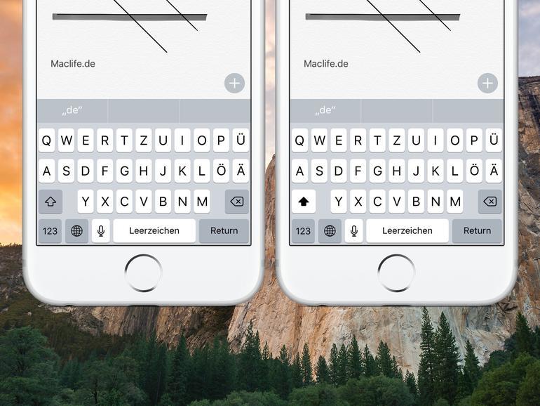 So wechseln Sie die iPhone-Tastatur zur ständigen Großbuchstaben-Ansicht