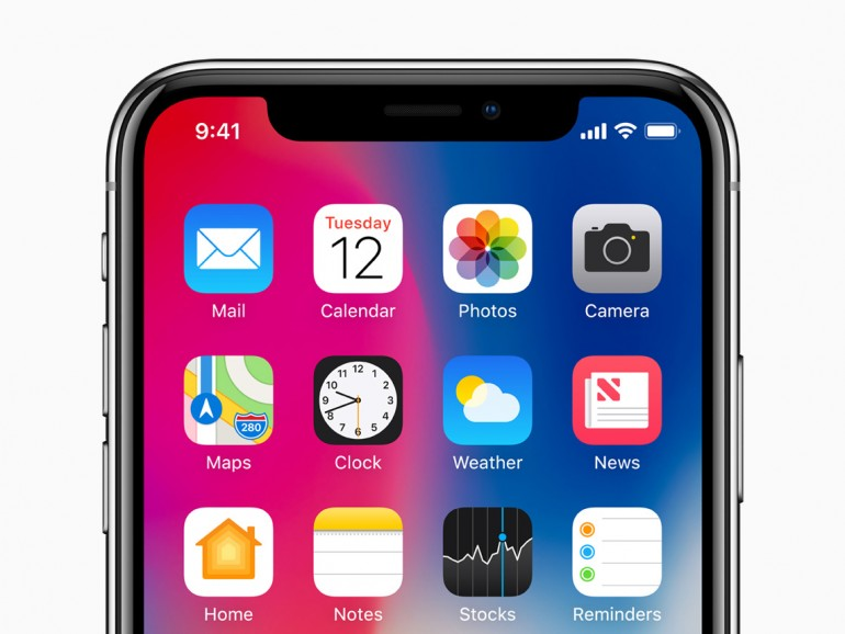 Kerbe am iPhone X