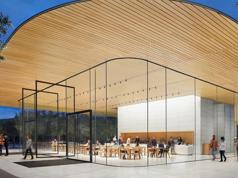 Das Apple Park Besucherzentrum wird wohl der einzige Anlaufpunkt für Touristen werden