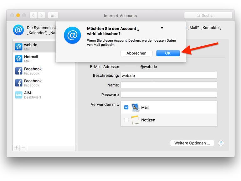 Account Löschen e mail konto aus mail am mac entfernen so geht s mac