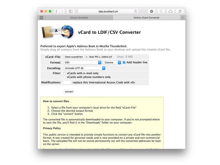 iPhone-Kontakte in Excel-Tabelle speichern - So geht's   Mac