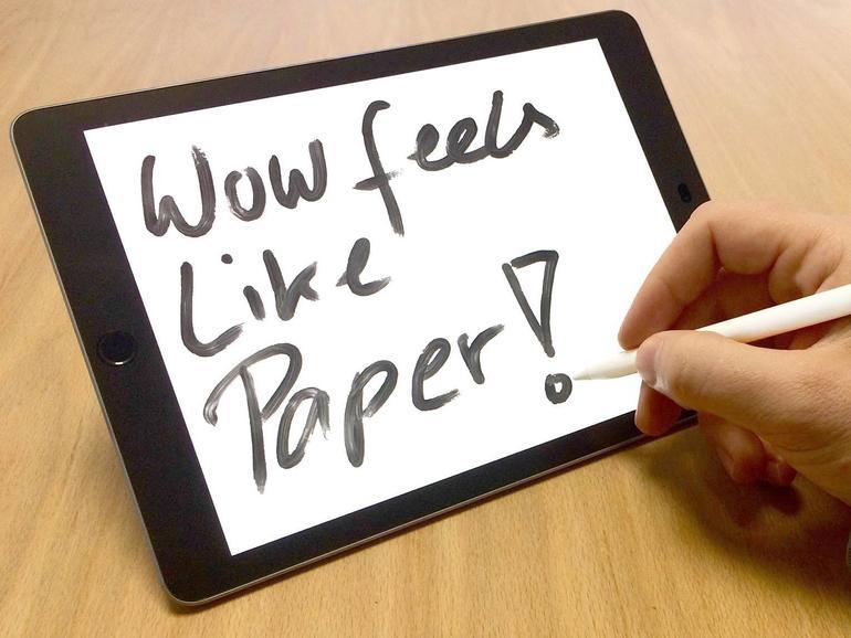 Dank Folie malt es sich auf dem iPad wie auf Papie