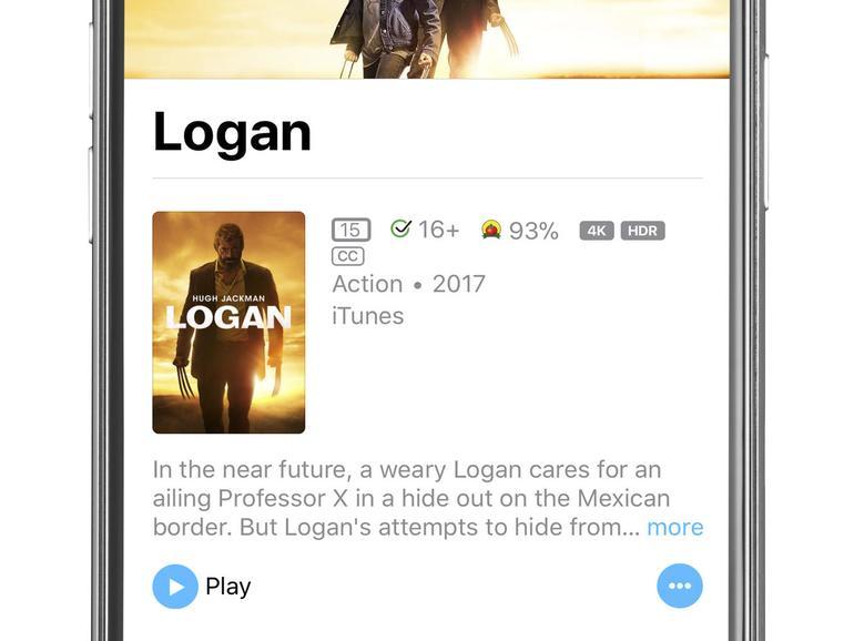 Seit Ende 2017 bietet Apple immer mehr Filme im iTunes Store in 4K und HDR an.