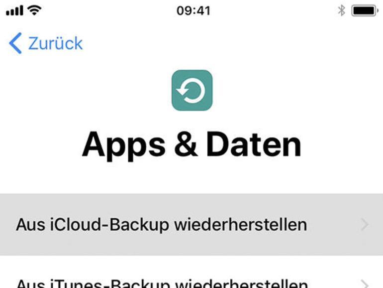 """2 Schalten Sie Ihr iPhone ein. Folgen Sie den Bildschirmanweisungen, bis Ihnen die Möglichkeit aufgezeigt wird, Apps und Daten zu übernehmen. Wählen Sie """"Daten von Android übernehmen""""."""