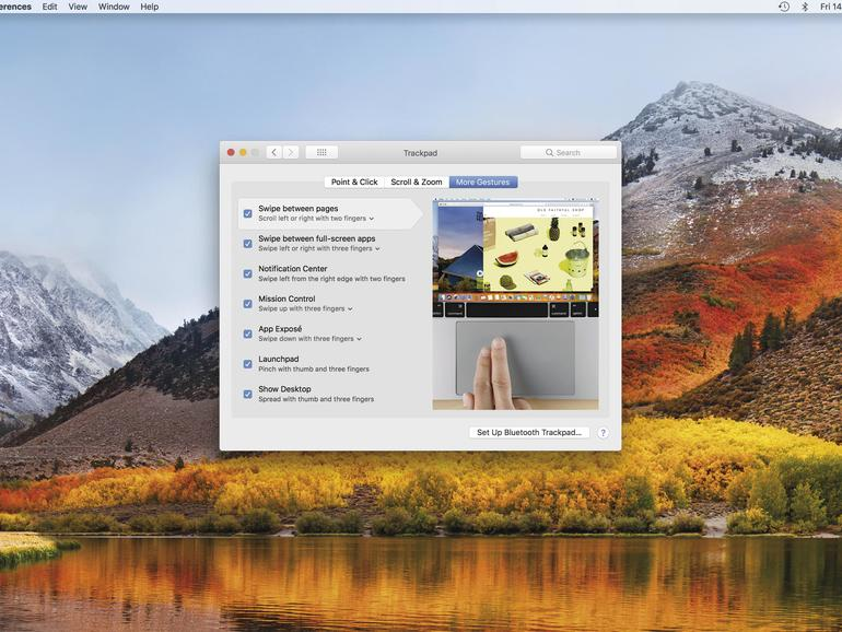 Multi-Touch-Gesten am Mac einrichten