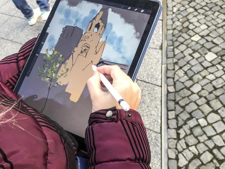 Zeichnen am iPad Pro
