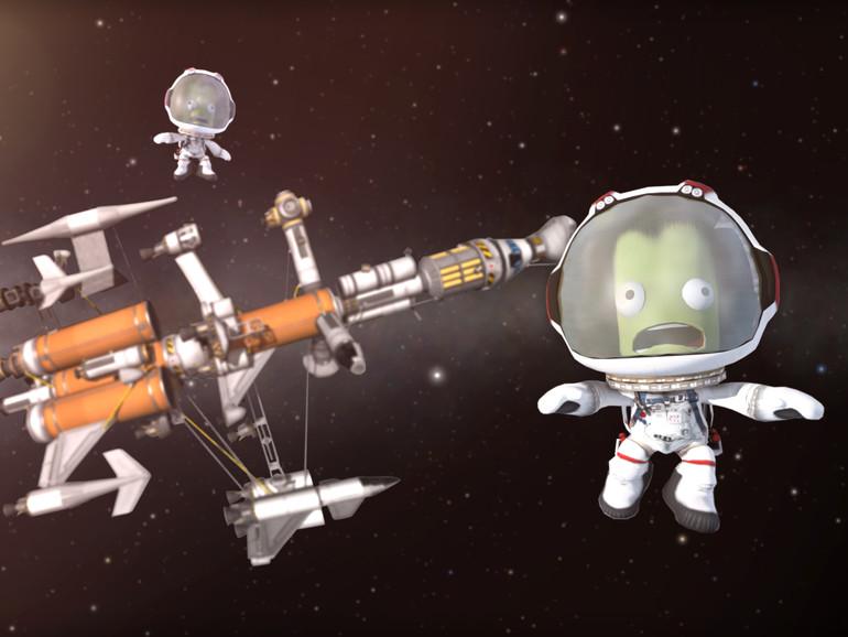 Als Astronauten kommen die Kerbals zum Einsatz