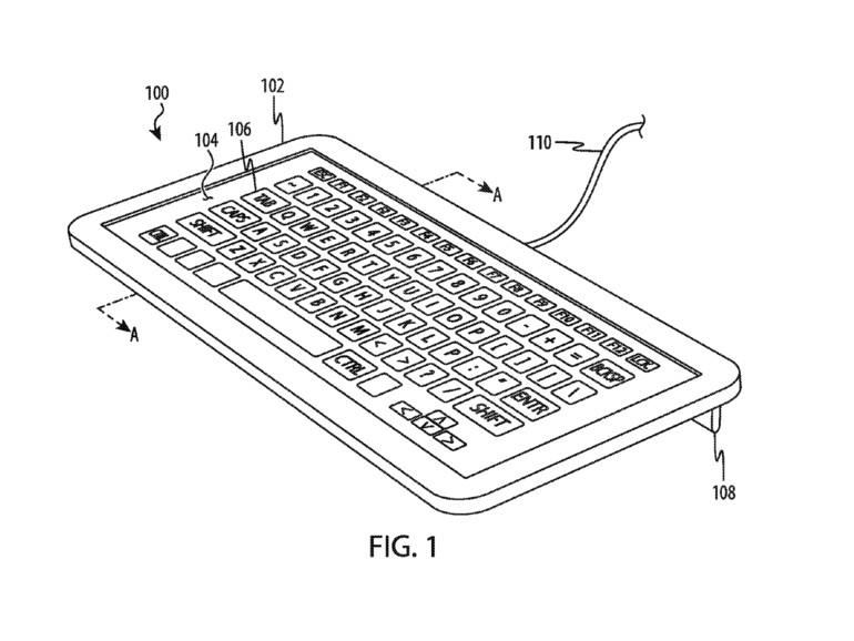 Patentskizze zeigt flexible Tastatur