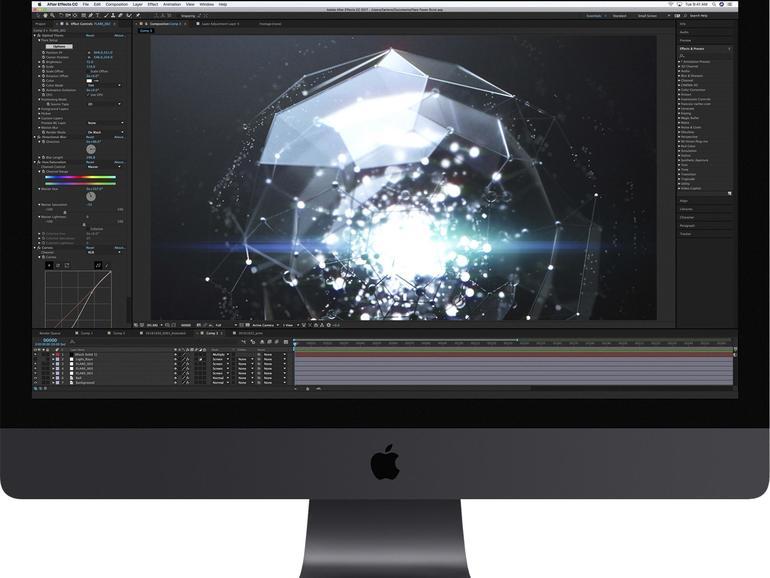 Schwarz ist das neue Silber. Und nach der Pro-Software und dem Mac Pro bekommt auch der Profi-iMac ein (fast) schwarzes Äußeres spendiert.