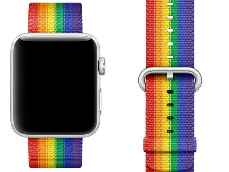 Ein Pride-Armband gab es bereits
