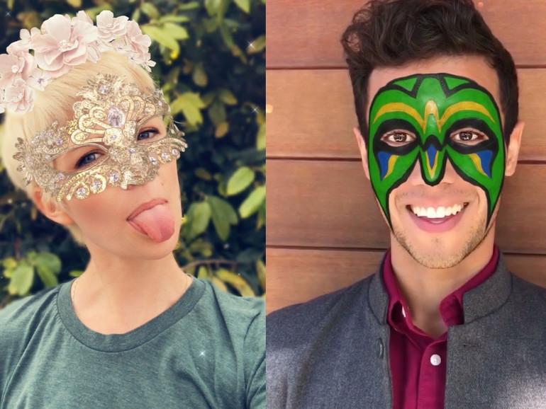 Neue Snapchat-Masken mit Unterstützung der TrueDepth-Kamera am iPhone X
