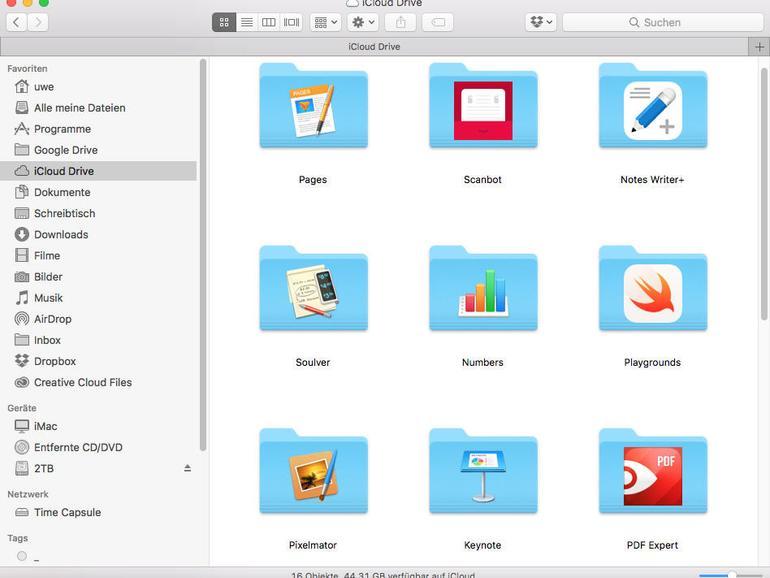 Apples Online-Speicherlösung iCloud Drive wurde 2015 mit OSX 10.10 Yosemite eingeführt.