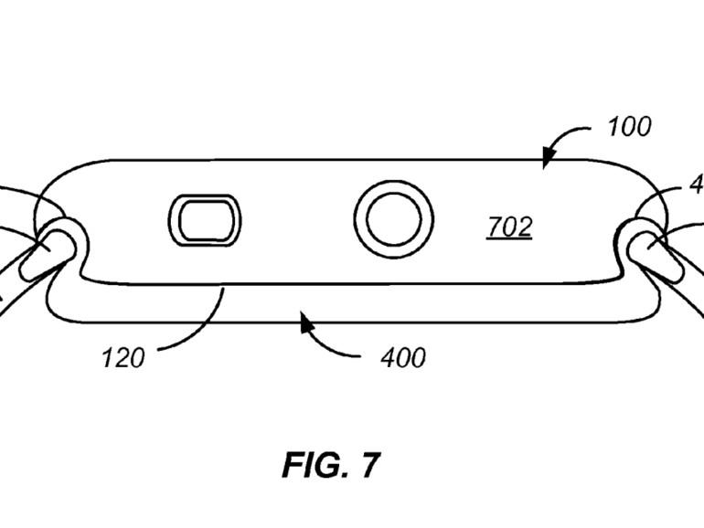 Patentskizze zeigt Rückplatte für Apple Watch