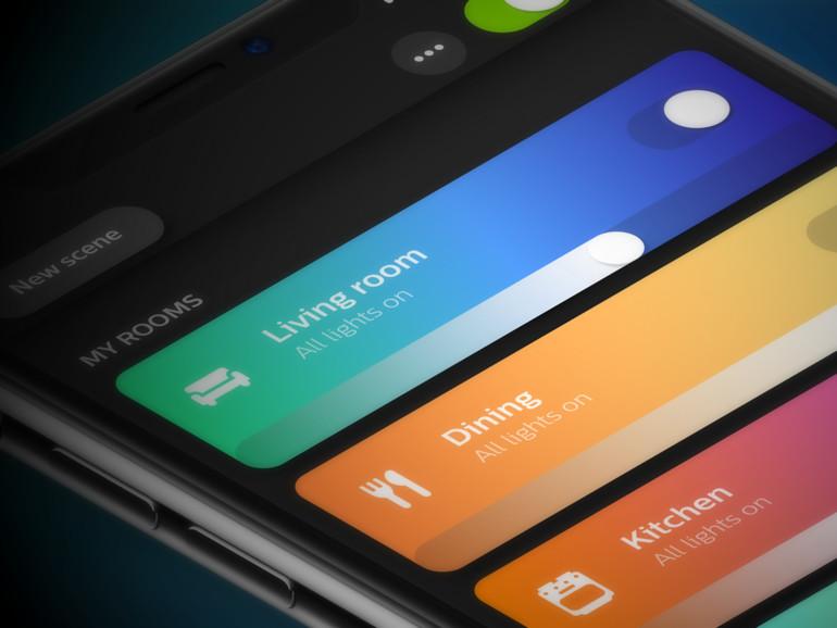 Philips Hue App auf dem iPhone