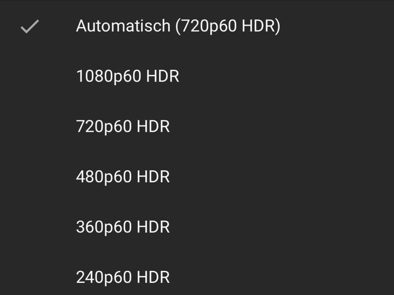 Screenshot aus der YouTube-App am iPhone X bei HDR-Wiedergabe